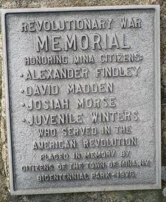 Town of Mina Revolutionary War Memorial image. Click for full size.