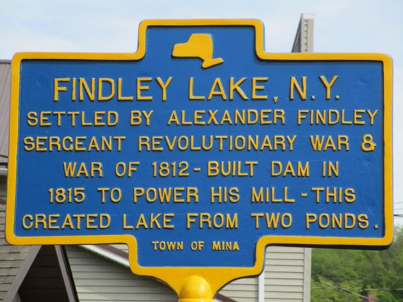 Findley Lake, N.Y. Marker image. Click for full size.