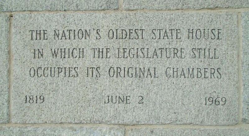 New Hampshire State House Chambers Marker Stone image. Click for full size.