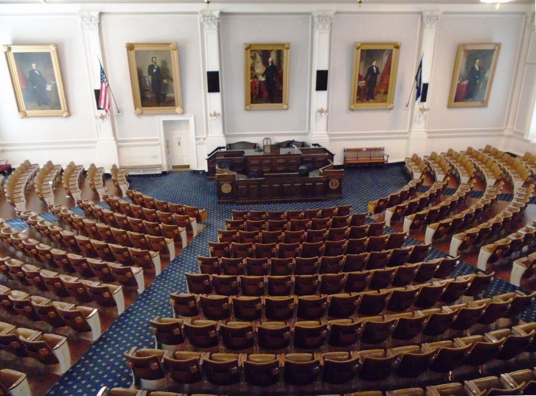 New Hampshire State House Representatives Chamber image. Click for full size.