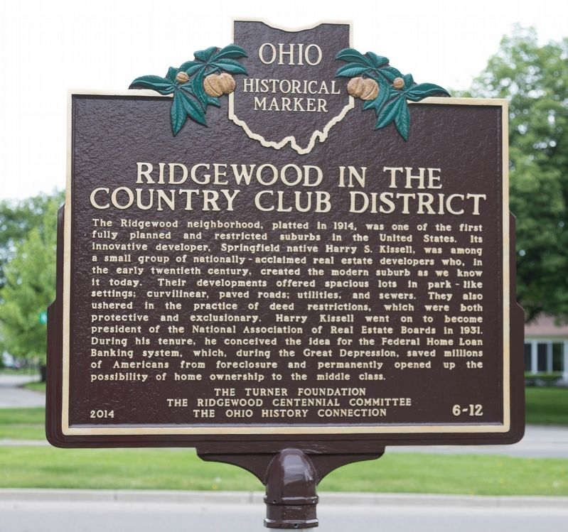 Ridgewood in the Country Club District Marker image. Click for full size.