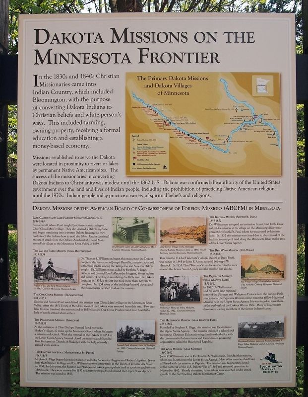 Dakota Missions on the Frontier marker image. Click for full size.