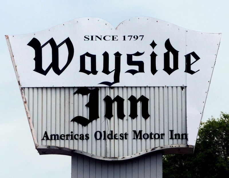 Wayside Inn,<br>America's Oldest Motor Inn image. Click for full size.