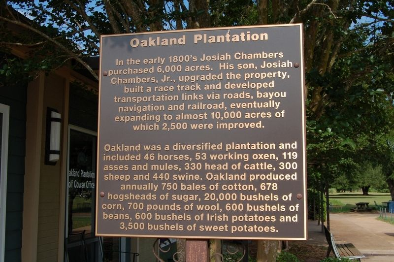 Oakland Plantation Marker image. Click for full size.