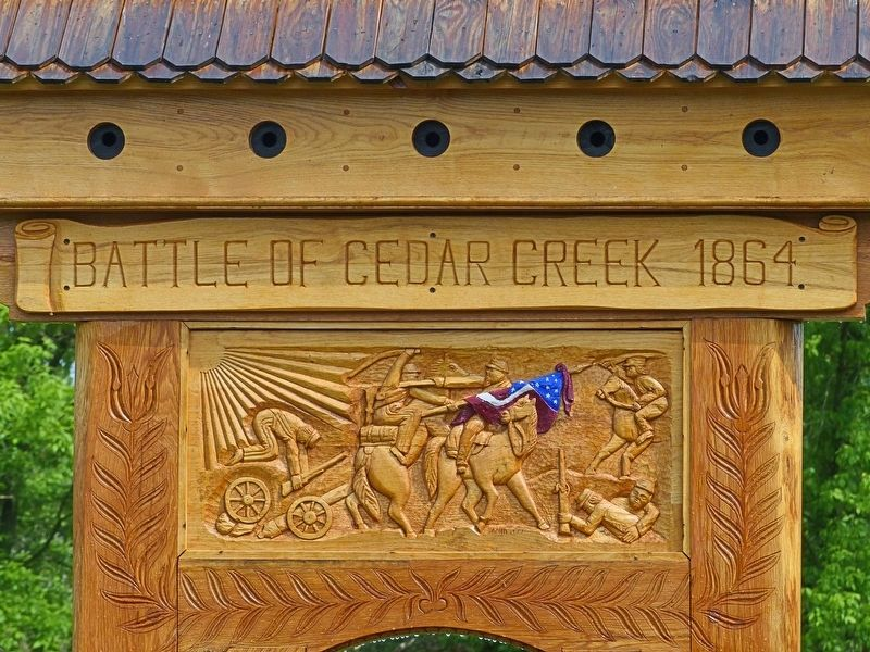 Battle of Cedar Creek 1864 Marker image. Click for full size.