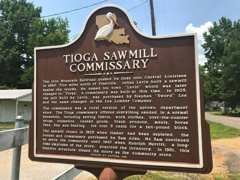 Tioga Sawmill Commissary Marker image. Click for full size.