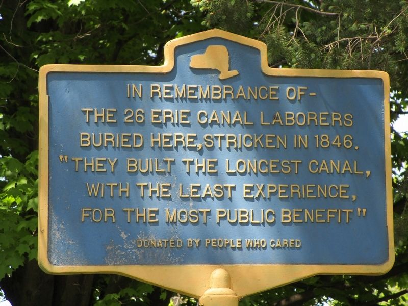 The 26 Erie Canal Laborers Marker image. Click for full size.