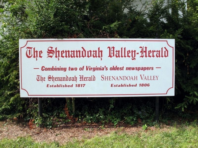 The Shenandoah Valley-Herald image. Click for full size.