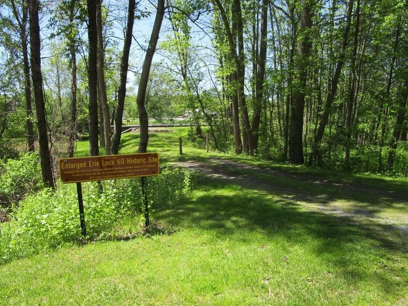 Access to the Enlarged Erie Canal Lock 60 Historic Site & Marker image. Click for full size.