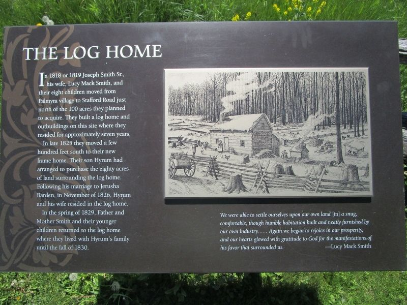 The Log Home Marker image. Click for full size.