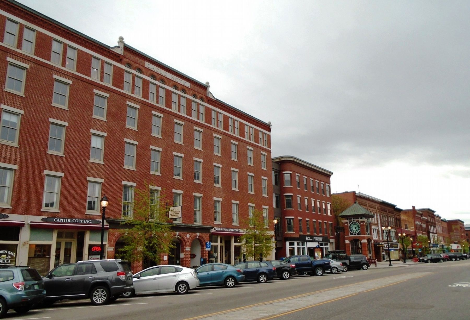 Eagle Hotel and the reinvigorated Main Street, looking south image. Click for full size.