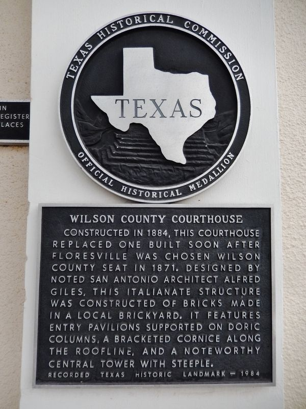 Wilson County Courthouse Marker image. Click for full size.