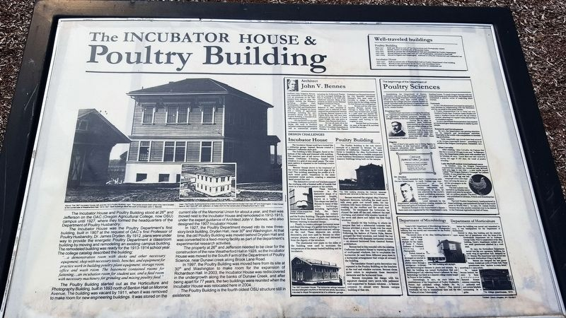 The Incubator House & Poultry Building Marker image. Click for full size.