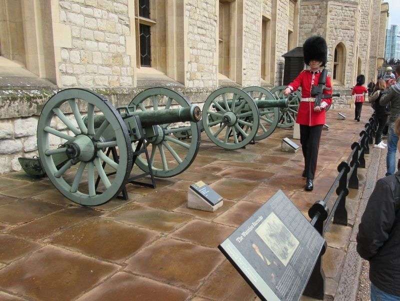 Coldstream Guards On Duty at the Waterloo Barracks image. Click for full size.