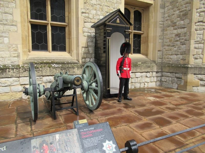 A Coldstream Guard On Duty at the Waterloo Barracks image. Click for full size.