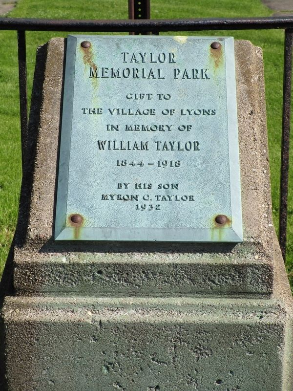 Taylor Memorial Park Marker image. Click for full size.