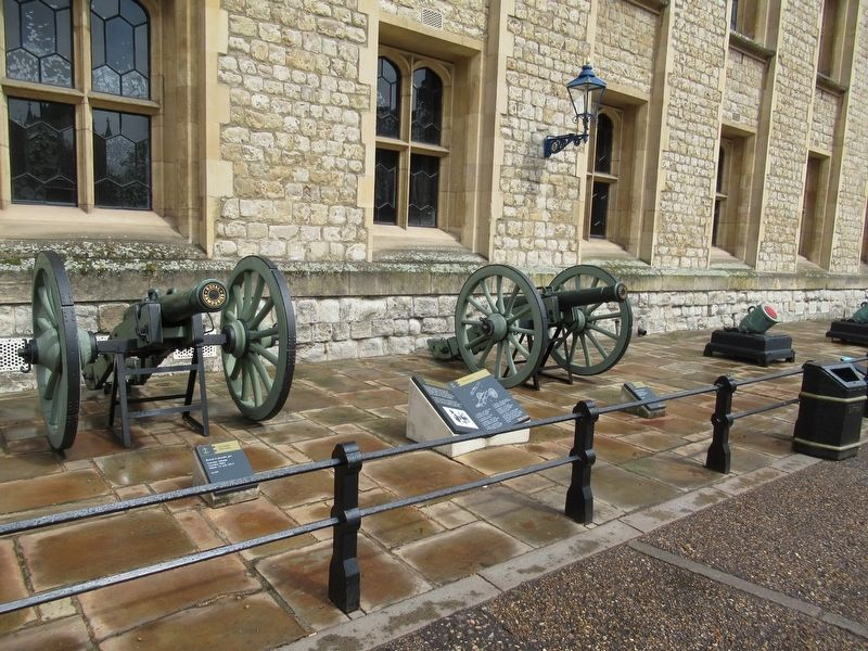 Captured Cannon Marker with Guns of the Waterloo Battery image. Click for full size.