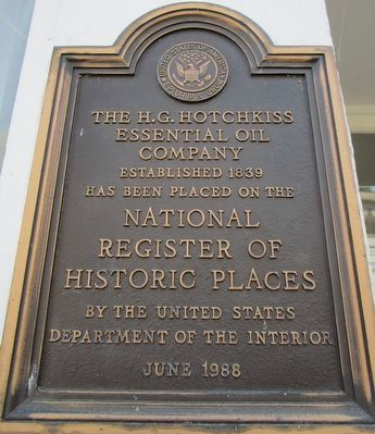 H.G. Hotchkiss NRHP Plaque image. Click for full size.