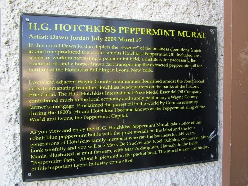 H.G. Hotchkiss Peppermint Mural Marker image. Click for full size.