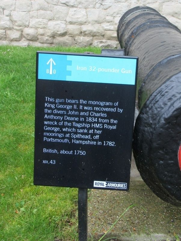 Iron 32 pounder Gun Marker image. Click for full size.