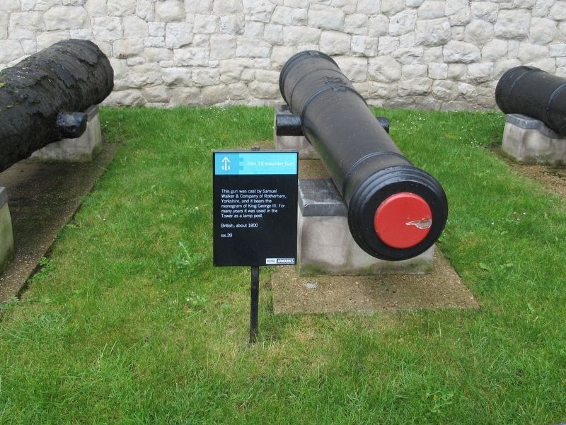 Iron 12 pounder Gun Marker image. Click for full size.