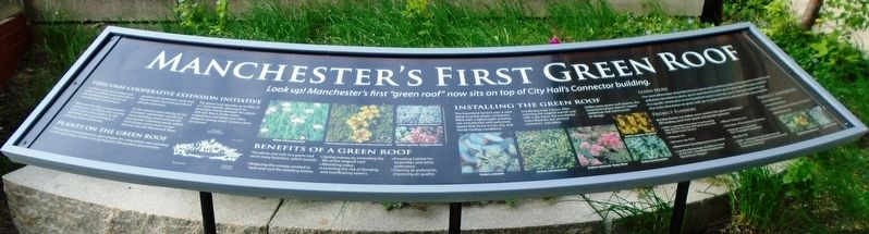 Manchester's First Green Roof Marker image. Click for full size.
