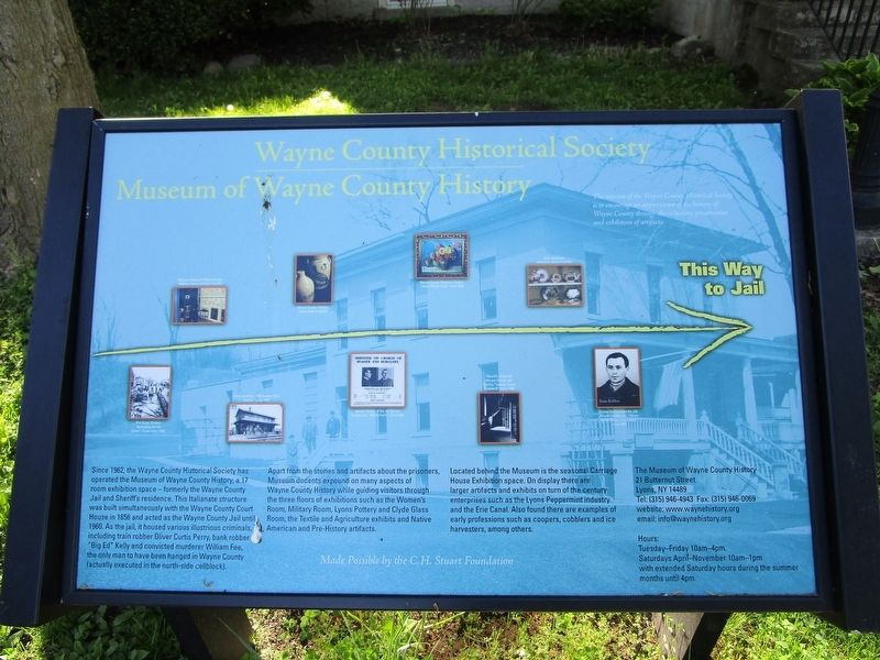 Wayne County Historical Society Marker image. Click for full size.