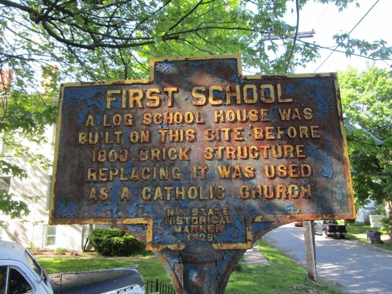 First School Marker image. Click for full size.
