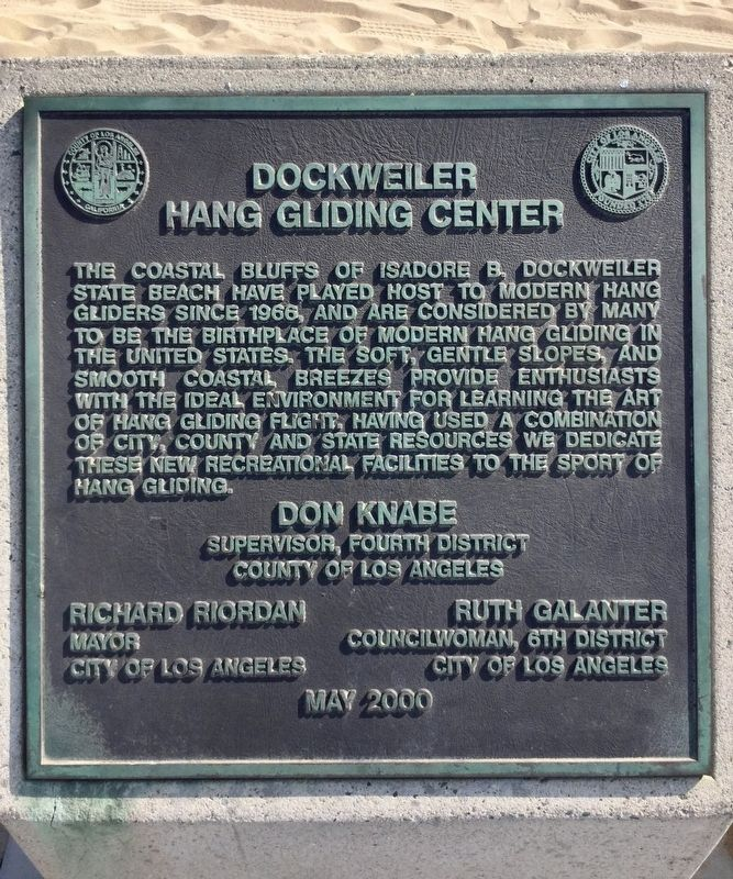 Dockweiler Hang Gliding Center Marker image. Click for full size.