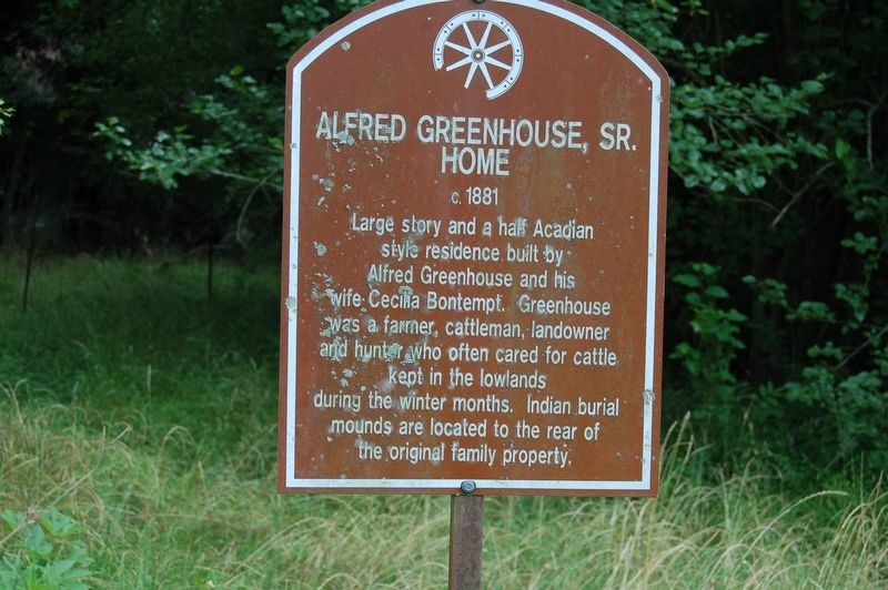 Alfred Greenhouse, Sr. Home Marker image. Click for full size.