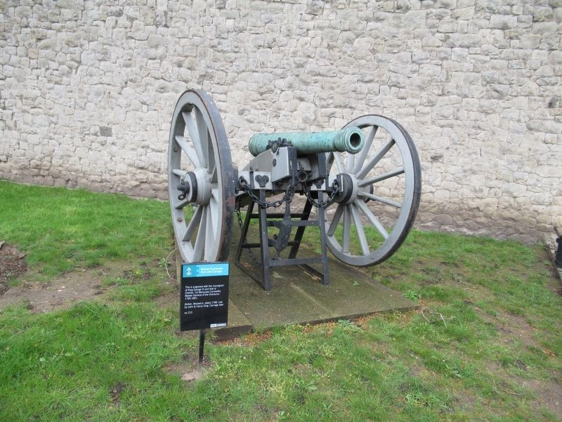 Bronze 6-pounder Gun and Carriage Marker image. Click for full size.