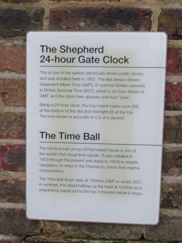 The Shepherd 24-hour Gate Clock Marker image. Click for full size.