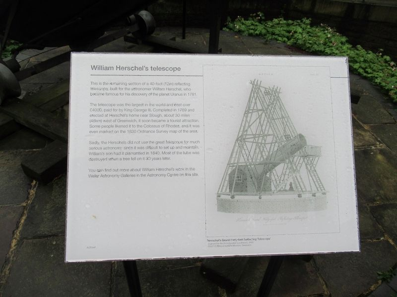 William Herschel's Telescope Marker image. Click for full size.