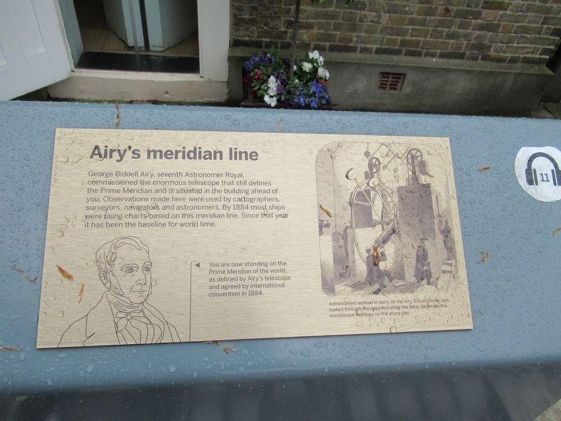 Airy's meridian line Marker image. Click for full size.