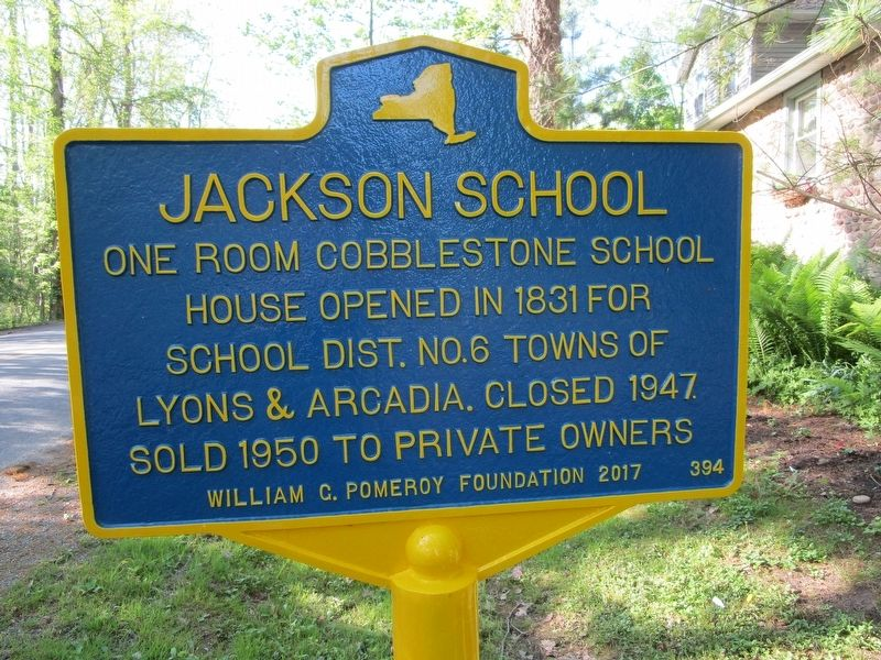 Jackson School Marker image. Click for full size.