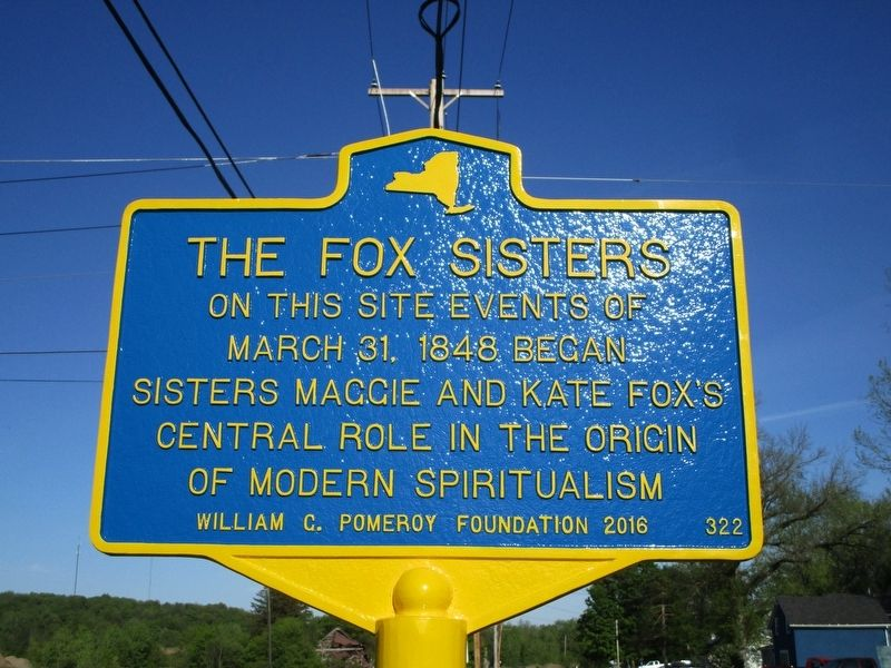 The Fox Sisters Marker image. Click for full size.