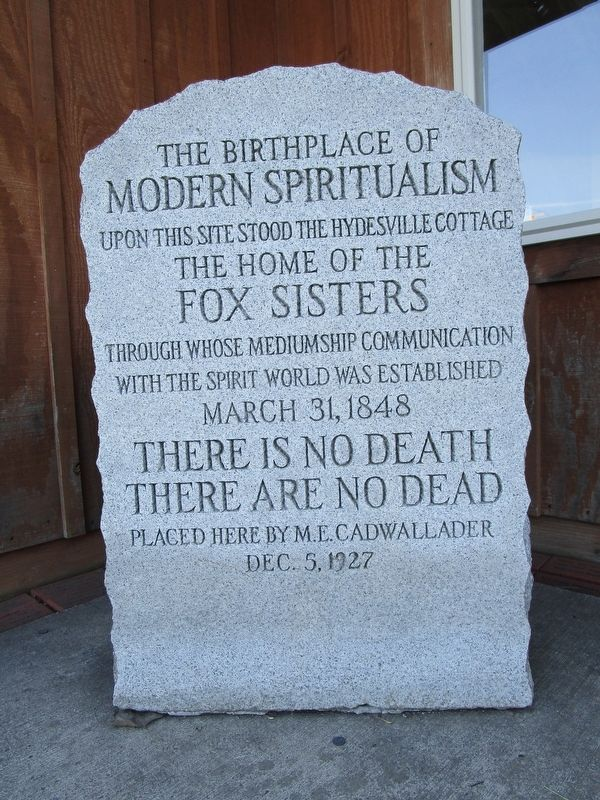 The Birthplace of Modern Spiritualism Marker image. Click for full size.