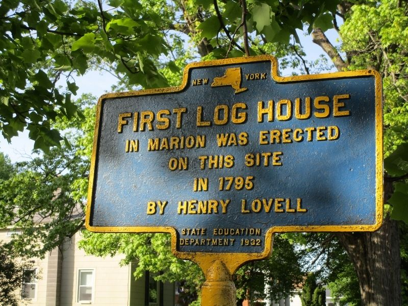 First Log House Marker image. Click for full size.