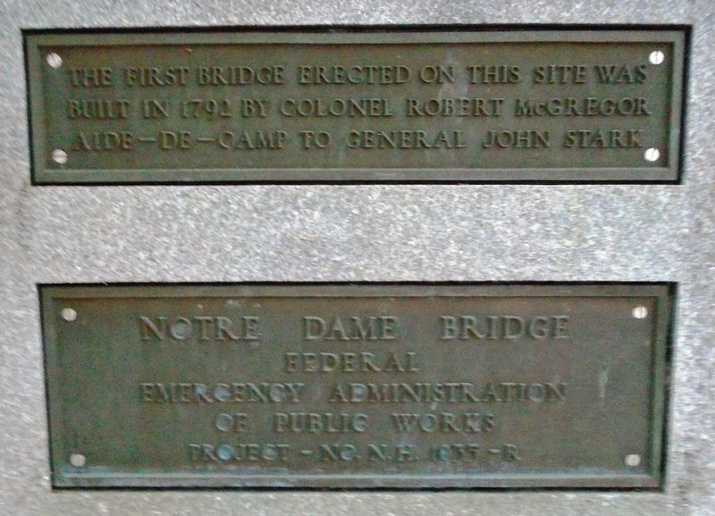 Notre Dame Bridge Markers image. Click for full size.