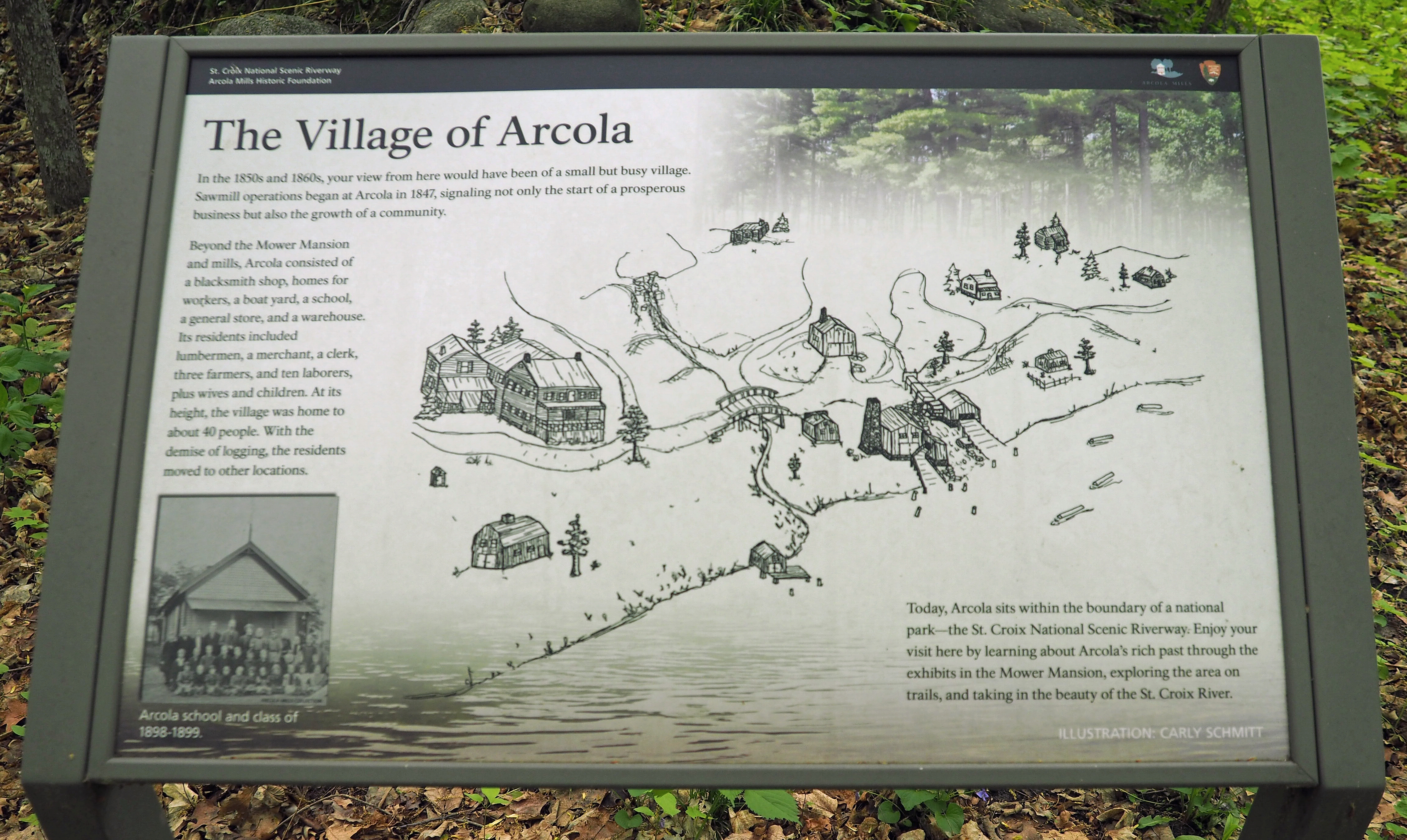 The Village of Arcola marker