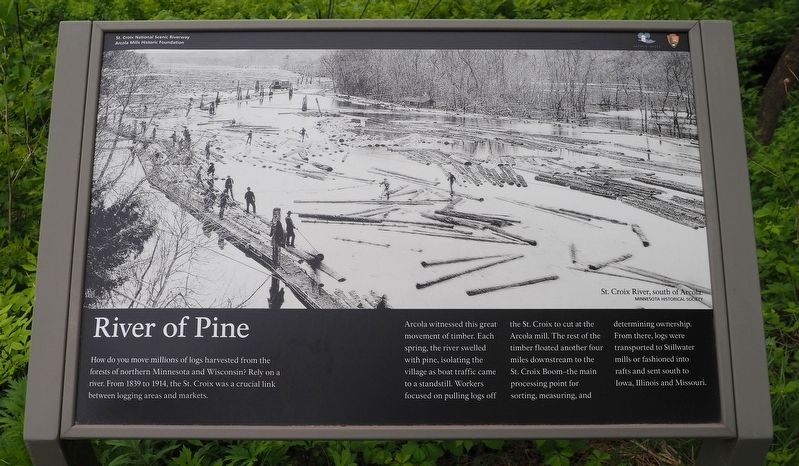 River of Pine marker image. Click for full size.