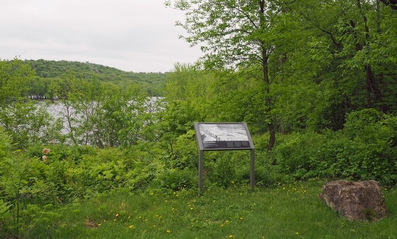 River of Pine marker overlooking the St. Croix River image. Click for full size.