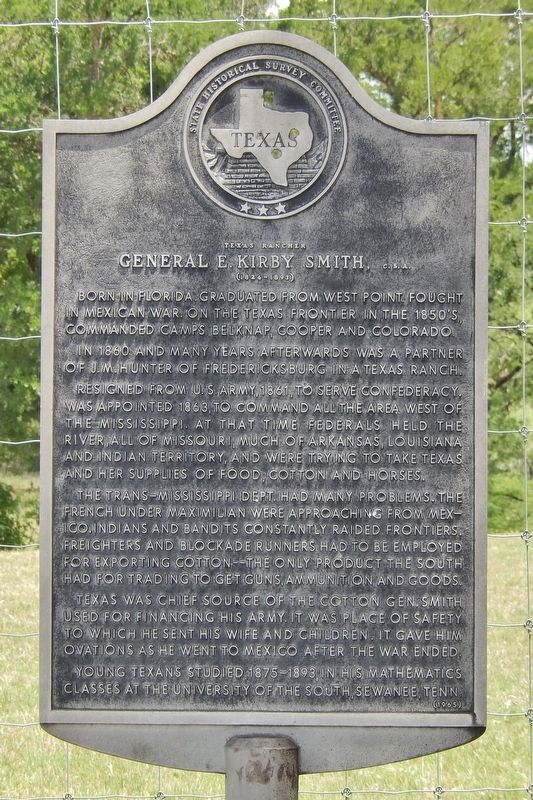 Texas Rancher General E. Kirby Smith, C.S.A. Marker image. Click for full size.