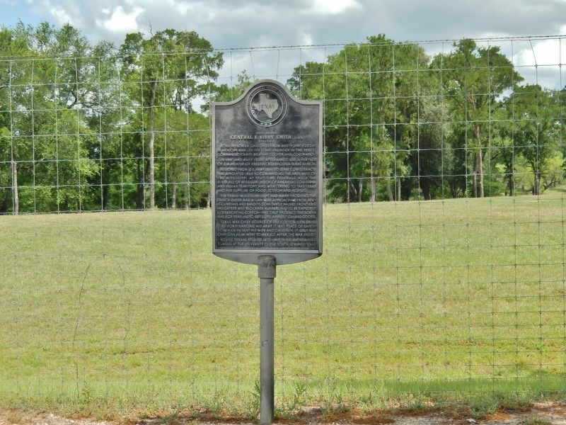 Texas Rancher General E. Kirby Smith, C.S.A. Marker (<i>tall view</i>) image. Click for full size.