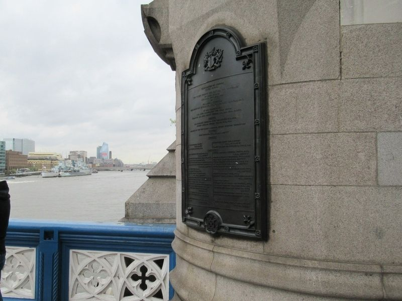 Corporation of London Tower Bridge Marker image. Click for full size.