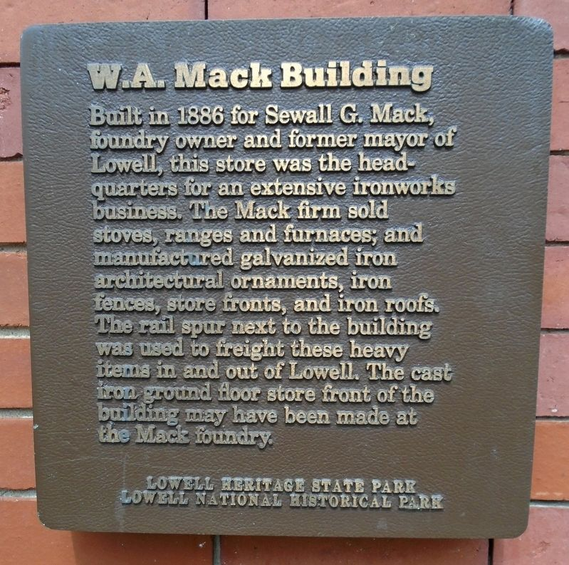 W.A. Mack Building Marker image. Click for full size.