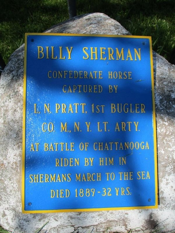 Billy Sherman Marker image. Click for full size.