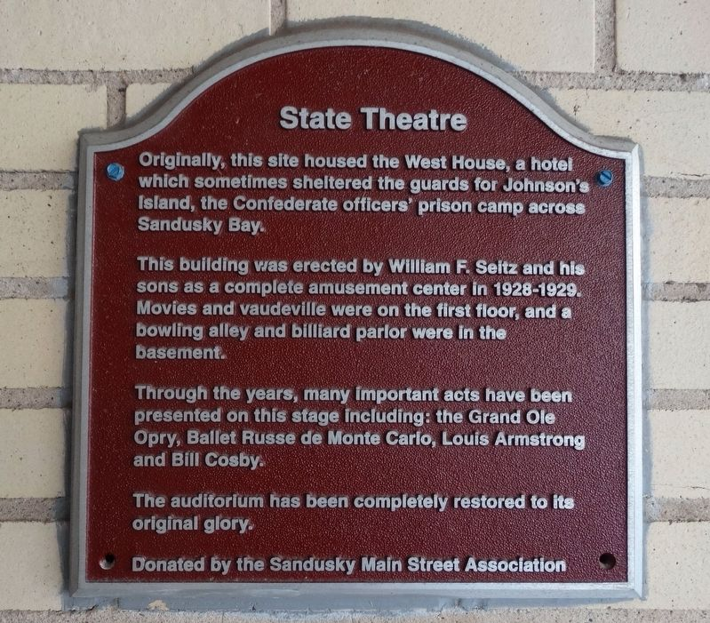 State Theatre Marker image. Click for full size.