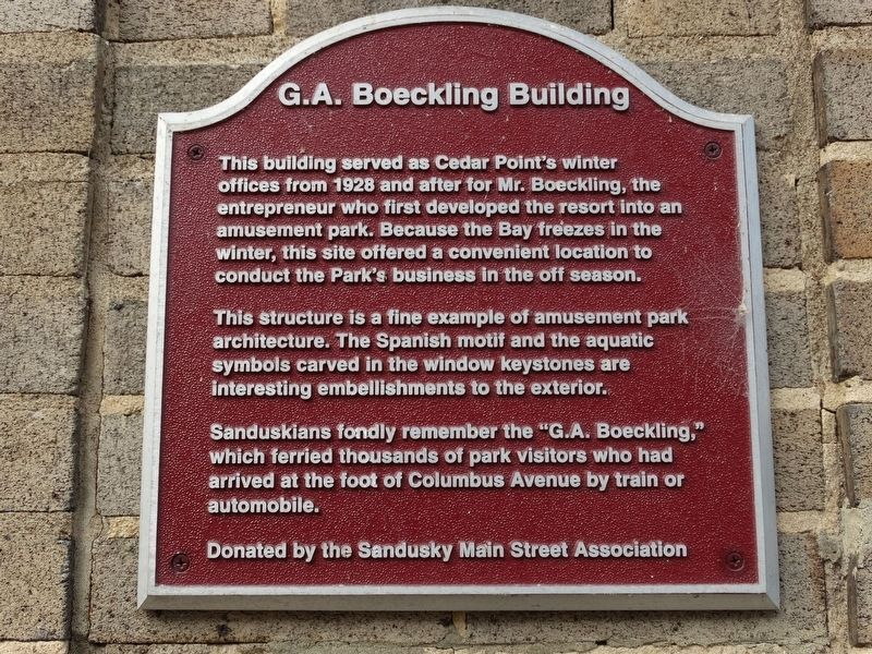 G.A. Boeckling Building Marker image. Click for full size.