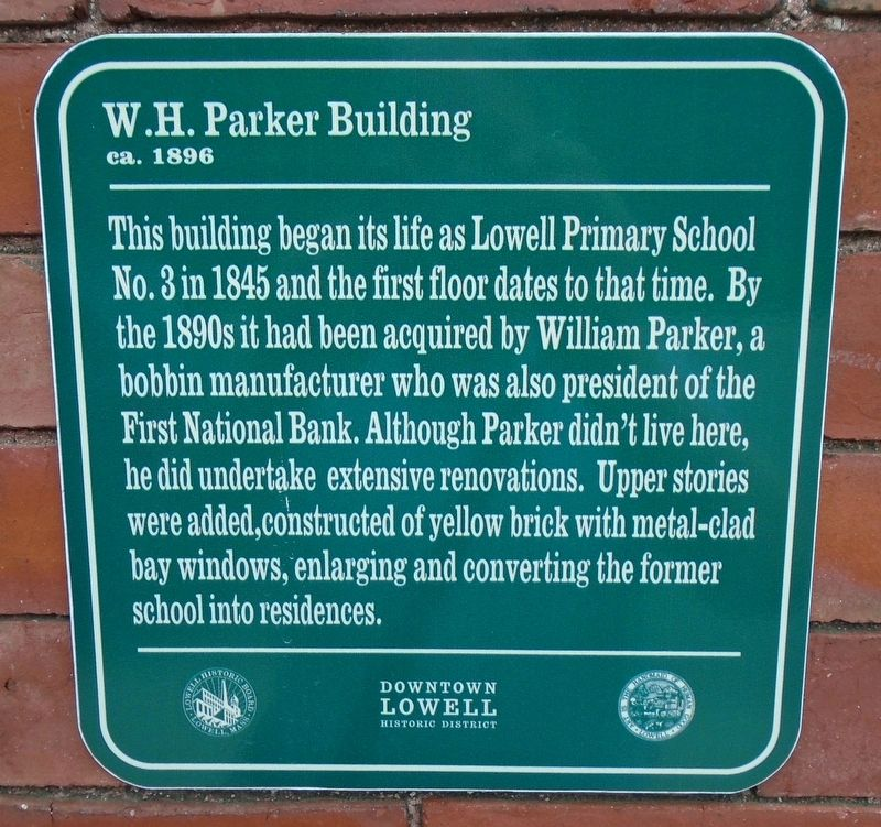 W.H. Parker Building Marker image. Click for full size.